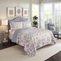 Marble Hill Torrey Reversible 100% cotton 3-Piece Quilt Set