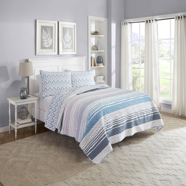 Marble Hill Raine Reversible 100% cotton 3-Piece Quilt Set