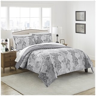 Marble Hill Cheyanne Reversible 100% cotton 3-Piece Comforter Set