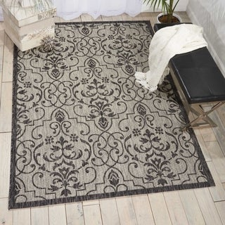 Nourison Garden Party Ivory/CharcoalIndoor/Outdoor Area Rug (5'3X7'5)