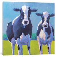 iCanvas Cow Pals II by Carol Young Canvas Print