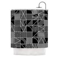 KESS InHouse Fimbis Whack Black White Shower Curtain (69x70)