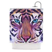 KESS InHouse Brienne Jepkema Purple Tiger Orange White Shower Curtain (69x70)
