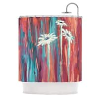 KESS InHouse Brienne Jepkema Whole Teal Orange Shower Curtain (69x70)