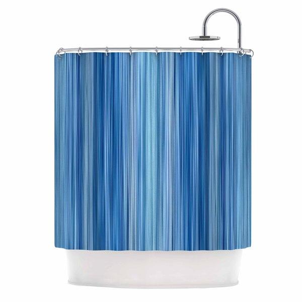 KESS InHouse Bruce Stanfield Ambient #1 Teal Digital Shower Curtain (69x70)
