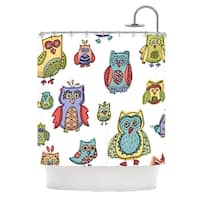 KESS InHouse Brienne Jepkema Owls Shower Curtain (69x70)