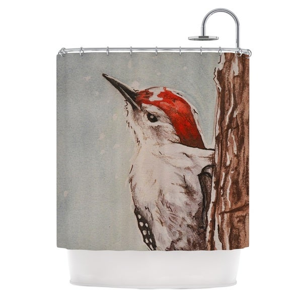 KESS InHouse Brittany Guarino Downy Woodpecker Shower Curtain (69x70)