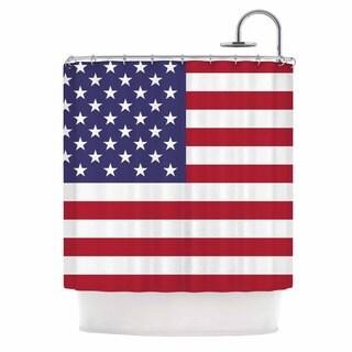 KESS InHouse Bruce Stanfield Flag of USA Contemporary Digital Shower Curtain (69x70)