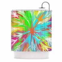KESS InHouse Dan Sekanwagi Tropical Paradise Rainbow Abstract Shower Curtain (69x70)