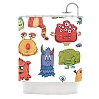 KESS InHouse Brienne Jepkema Little Monsters Shower Curtain (69x70)