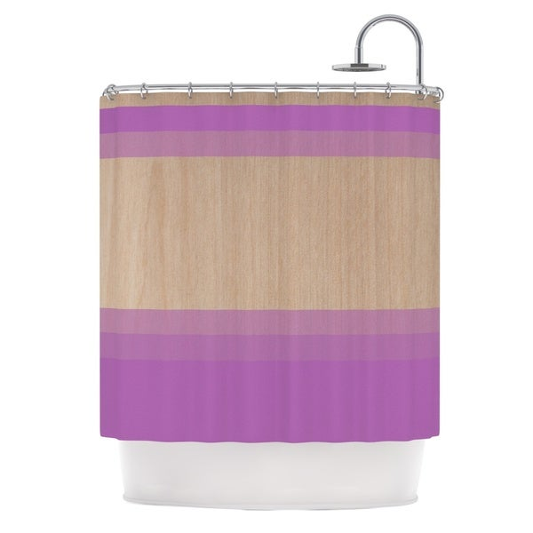 KESS InHouse Brittany Guarino Art Purple Lavender Wood Shower Curtain (69x70)