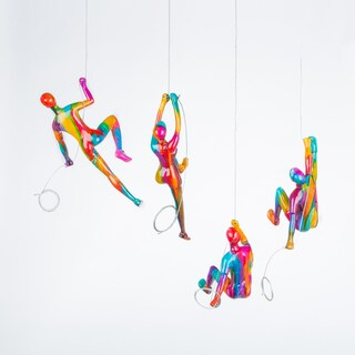 Handcrafted Climbers Sculptures (Set of 4)