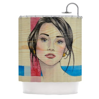 KESS InHouse Brittany Guarino Face Shower Curtain (69x70)