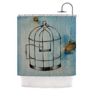 KESS InHouse Brittany Guarino Bird Cage Shower Curtain (69x70)
