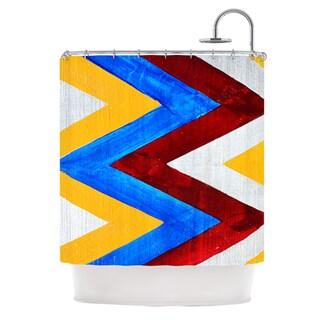 KESS InHouse Brittany Guarino Zig Zag Shower Curtain (69x70)