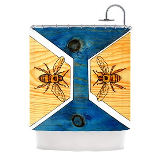 KESS InHouse Brittany Guarino Bees Shower Curtain (69x70)