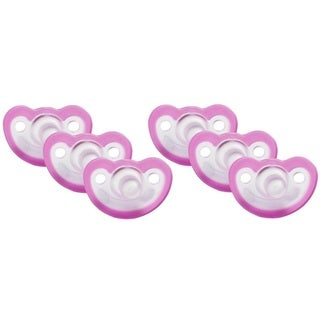 JollyPop Pink Vanilla Scented Silicone Pacifier 0-3 Months (6 Pack)