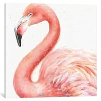 iCanvas Gracefully Pink III by Lisa Audit Canvas Print