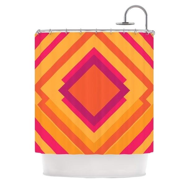 KESS InHouse Belinda Gillies Diamond Dayze Orange Pink Shower Curtain (69x70)