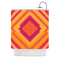 KESS InHouse Belinda Gillies Diamond Dayze Orange Pink Shower Curtain (69x70)