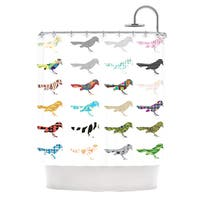 KESS InHouse Belinda Gillies Birds Shower Curtain (69x70)