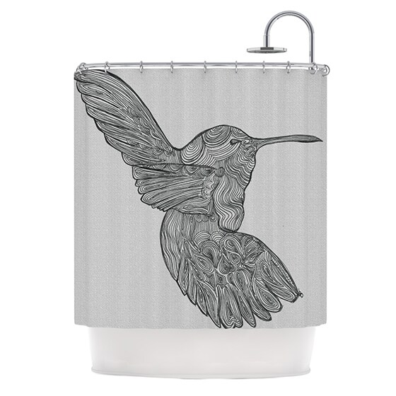 KESS InHouse Belinda Gillies Hummingbird Shower Curtain 69x70