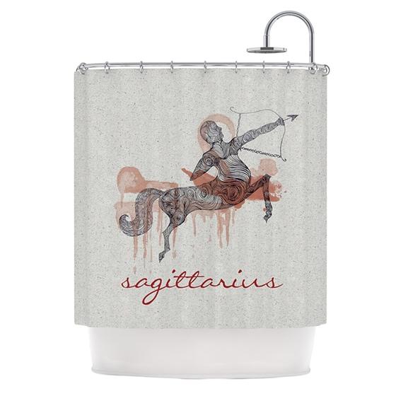 KESS InHouse Belinda Gillies Sagittarius Shower Curtain (69x70)