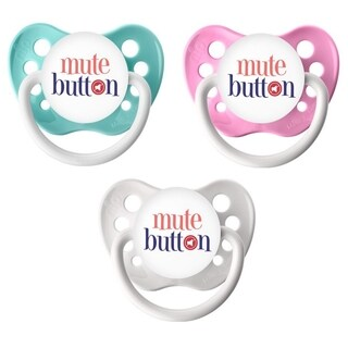 Ulubulu Mute Button Classic Expression Pacifier 0-6 Months (3 Pack)