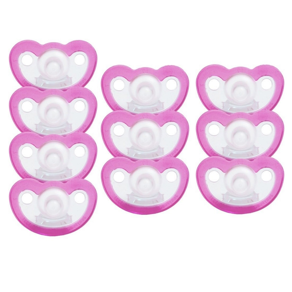 JollyPop Pink Unscented Silicone Pacifier Preemie (10 Pac...