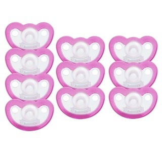 JollyPop Pink Unscented Silicone Pacifier Preemie (10 Pack)