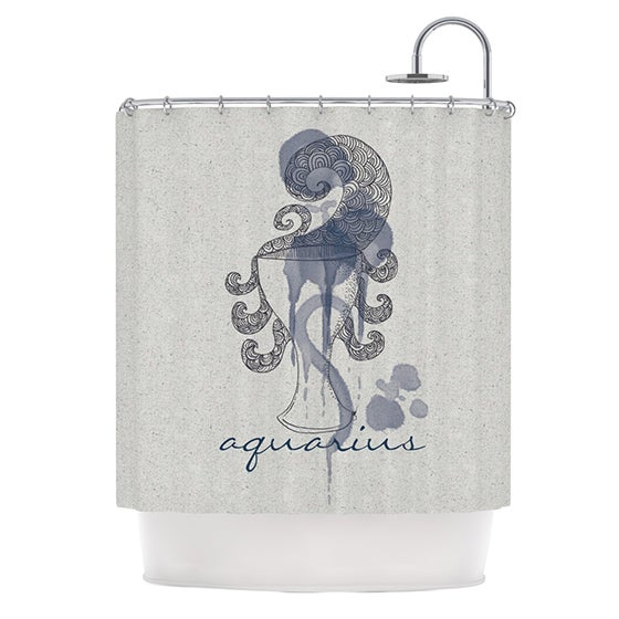 KESS InHouse Belinda Gillies Aquarius Shower Curtain (69x70)