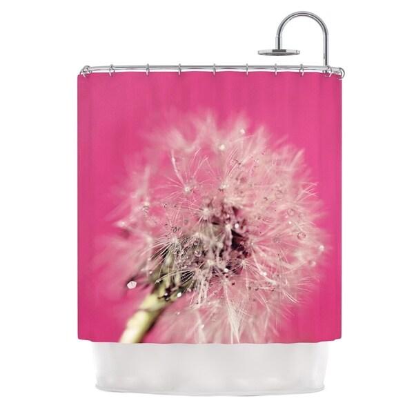 KESS InHouse Beth Engel Pink Twilight Magenta Dandelion Shower Curtain (69x70)