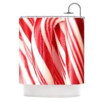KESS InHouse Beth Engel The Painted Forest Candy Cane Shower Curtain (69x70)
