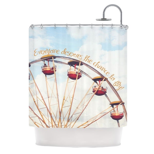 KESS InHouse Beth Engel The Chance To Fly Ferris Wheel Shower Curtain (69x70)