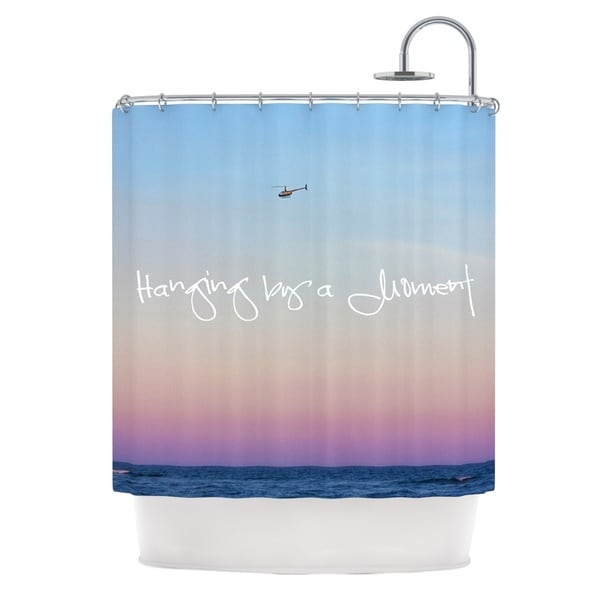 KESS InHouse Beth Engel Hanging By A Moment Sky Blue Shower Curtain (69x70)