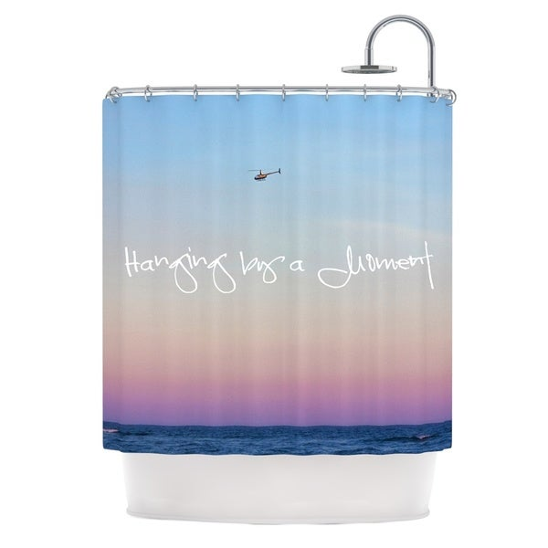 KESS InHouse Beth Engel Hanging By A Moment Sky Blue Shower Curtain 69x70