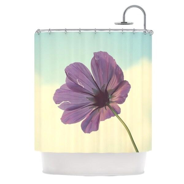 KESS InHouse Beth Engel Torn But Never Broken Purple Flower Shower Curtain 69x70