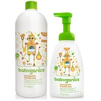Babyganics 16-ounce  Citrus Foaming Dish and Bottle Soapwith 32-ounce Refill Kit