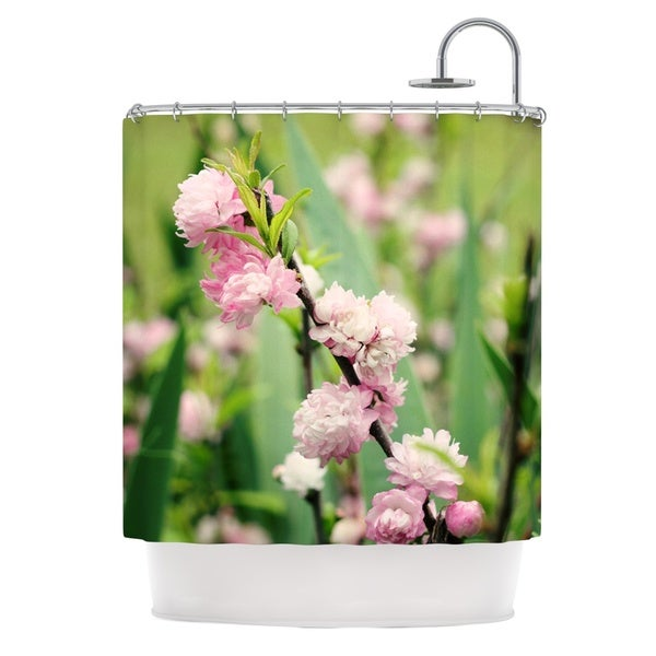 KESS InHouse Beth Engel The Best Things in Life Are Pink Green Pink Shower Curtain (69x70)