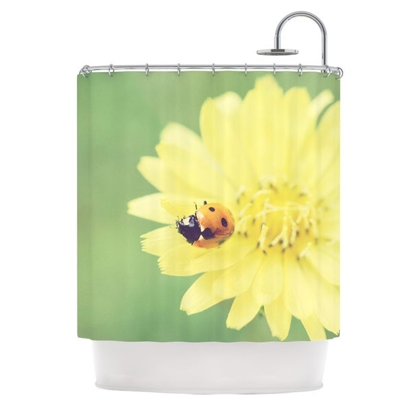 KESS InHouse Beth Engel Little Lady Ladybug Shower Curtain (69x70)