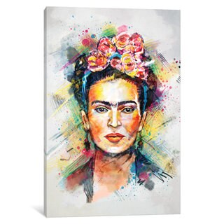 iCanvas Frida Kahlo by Tracie Andrews Canvas Print