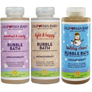 California Baby Bubble Bath 13-ounce Overtired Cranky/Light & Happy/Holiday Cheer Bubble Bath (3 Pack)