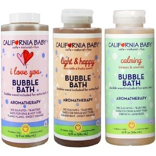 California Baby I Love You/Light & Happy/Calming Bubble Bath 13-ounce Bubble Bath (3 Pack)