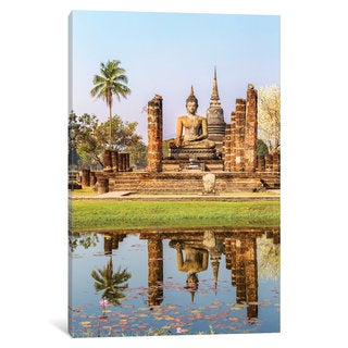 iCanvas 'Seated Buddha, Wat Mahathat, Sukhothai Historical Park, Kingdom Of Thailand' by Matteo Colombo Canvas Print