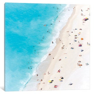 iCanvas Aerial View Of Myrtos Beach V, Cephalonia, Ionian Islands, Greece by Matteo Colombo Canvas Print