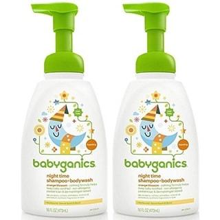 Babyganics 16-ounce Shampoo and Body Wash Night Time Orange Blossom (2 Pack)