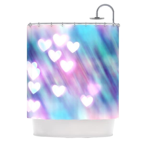 KESS InHouse Beth Engel Your Love is Sweet Like Candy Heart Shower Curtain (69x70)