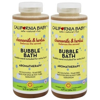 California Baby 13-ounce Chamomile and Herbs Bubble Bath (2 Pack)