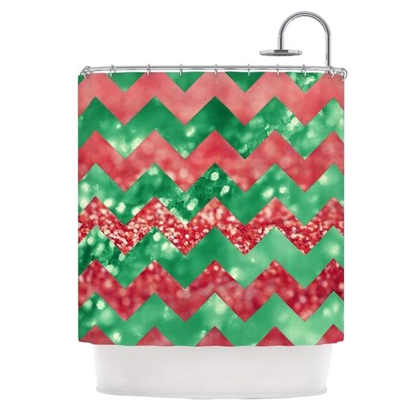 KESS InHouse Beth Engel Sparkle Chevron Shower Curtain (69x70)