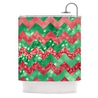 "KESS InHouse Beth Engel ""Sparkle"" Chevron Shower Curtain (69x70) - 69"" x 70"""